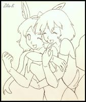 Misty and Serena line art by zilia-k