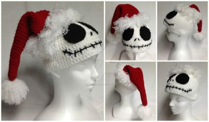 Nightmare Before Christmas Santa hat. by Dragon620026