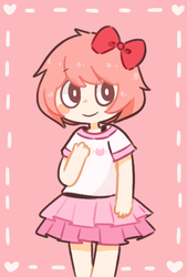 wearing natsuki's clothes by meowbun
