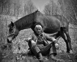man and horse II by sorinbodea
