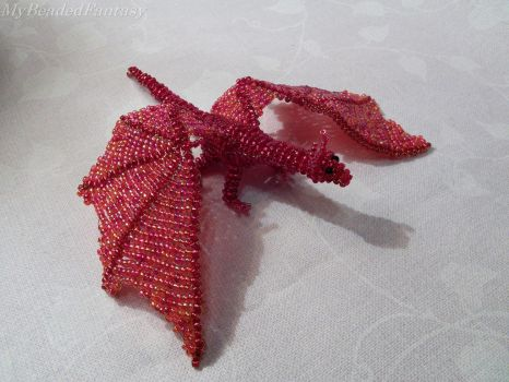Beaded Dragon by MyBeadedFantasy