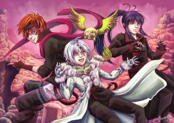 D.Gray-man trio by Spiccan