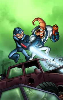 MegaMan vs Earthworm Jim by TPollockJR