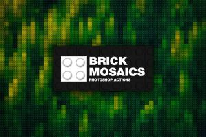 Brick Mosaics Photoshop Actions by pstutorialsws