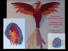 Reversible Philomena Phoenix Plush by The-Crafty-Kaiju
