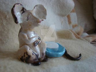 Mouse Candle Holder by WingSketcher