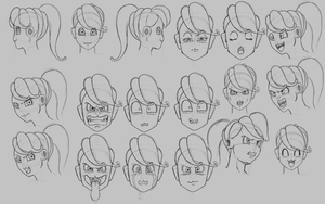 Puddin Facial Expressions 1 by Lutbarg