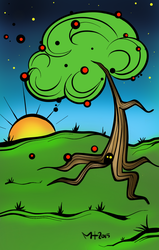 Tree and something.. by Miartmint