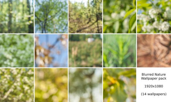 Blurred Nature Wallpaper Pack by wrebble