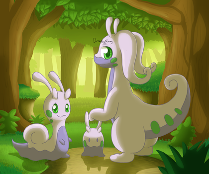The Goodra Family by DreamyNormy