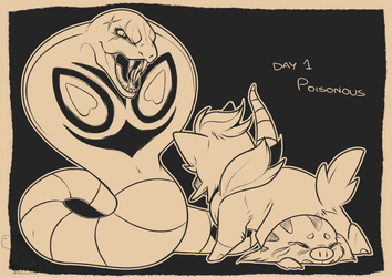 Inktober 2018: Day 1 - Poisonous by L-I-F-F-Y