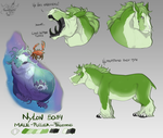 [Commission] Nylon reference sheet by FrossetHjerte