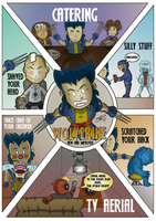 Chibi Wolverine and the X-Men by BouncieD