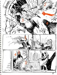 Solomon Kane layouts by MGuevara