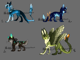 Mixed Species Adopt Sheet (Closed) by UnknownWilds
