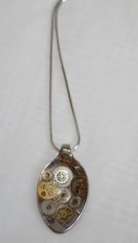 Steampunk Spoon Pendant by mayanbutterfly