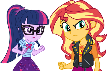 Twilight and Sunset suspicious by CloudyGlow