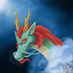 Dragon in the Fog by InuMimi