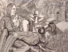 Severus Snape and Hermione by vincha
