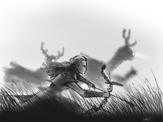 Aloy quick sketch by RobtheDoodler