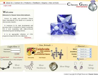 Web Interface for a jeweller by vinkrins