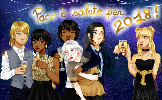 Salute e pace ~ Happy New Year 2018 ! by LunaDea-P