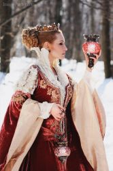 Winter witch by antiquecameo