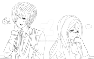 FH : jace and nori WIP by Miivei