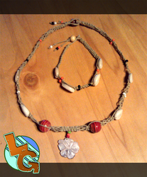 Hibiscus Flower Necklace by Heros-Shadow