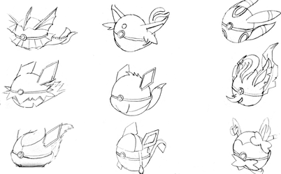 Pokeball dex Eevee and the eevelutions 1-8 by Names-Tailz