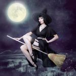 Pinup Witch by black0widow