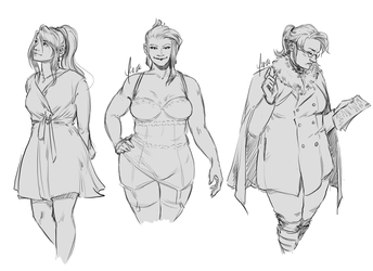 Sketchtember 12 - FF7 Fashion Looks by yinza
