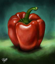 Drawing a Day - Capsicum Study by SyKoticOrKa