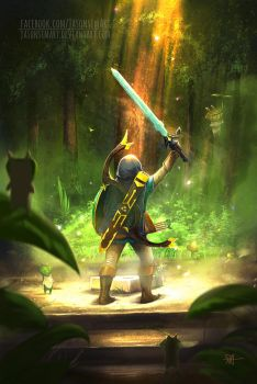 That epic moment when you grab the master sword by JasonsimArt