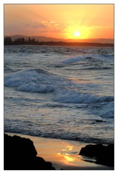 The Pass, Byron Bay - sunset 4 by wildplaces