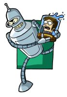 Bender and my head by UBob