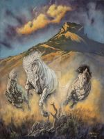 Shadowfax on the Highlands of Rohan by KipRasmussen