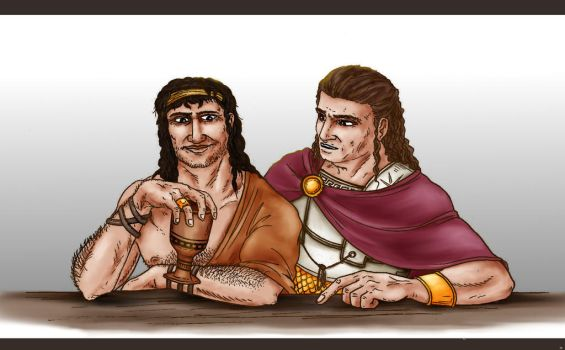 Odysseus and Agamemnon by OlaNaTungee