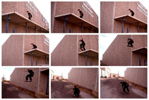 Lucien Roof Jump by Subcultureart