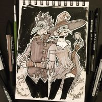 Inktober 2017 - Day31 - Mask by Koni-art