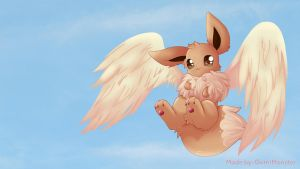 Flying Eevee by GumiMonster