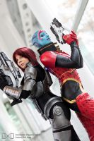 Samara and Shepard Cosplay Mass Effect Evil-Siren by Evil-Siren