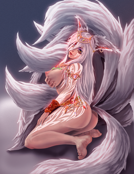 9 Tailed Ancient fox (NSFW 1) by KitsuneYin