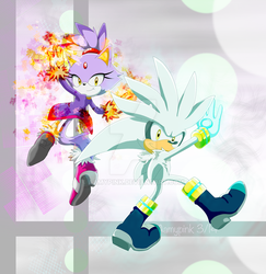 Silver and Blaze Cover by Aamypink