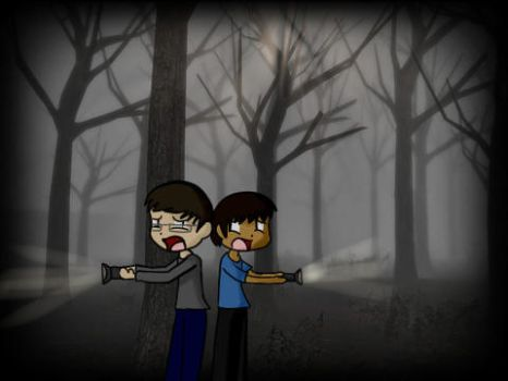 Scared Attempt at Slender by TheMagicCupcake