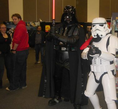 vader and stormtrooper by b-d-c-productions