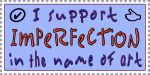 I Support Imperfection Stamp by raven-haven-creation