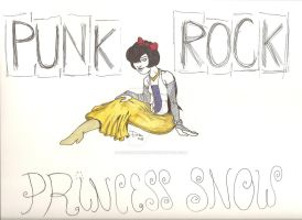 Punk Rock Princess Snow by decrepitmonkey