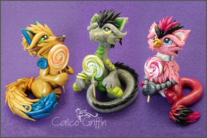 Lollipop fellows - polymer clay by CalicoGriffin