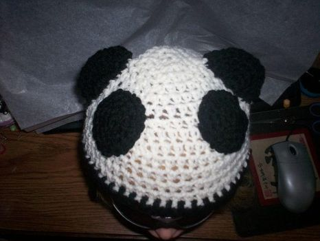 Panda Hat Top by CraftyLikeATodd